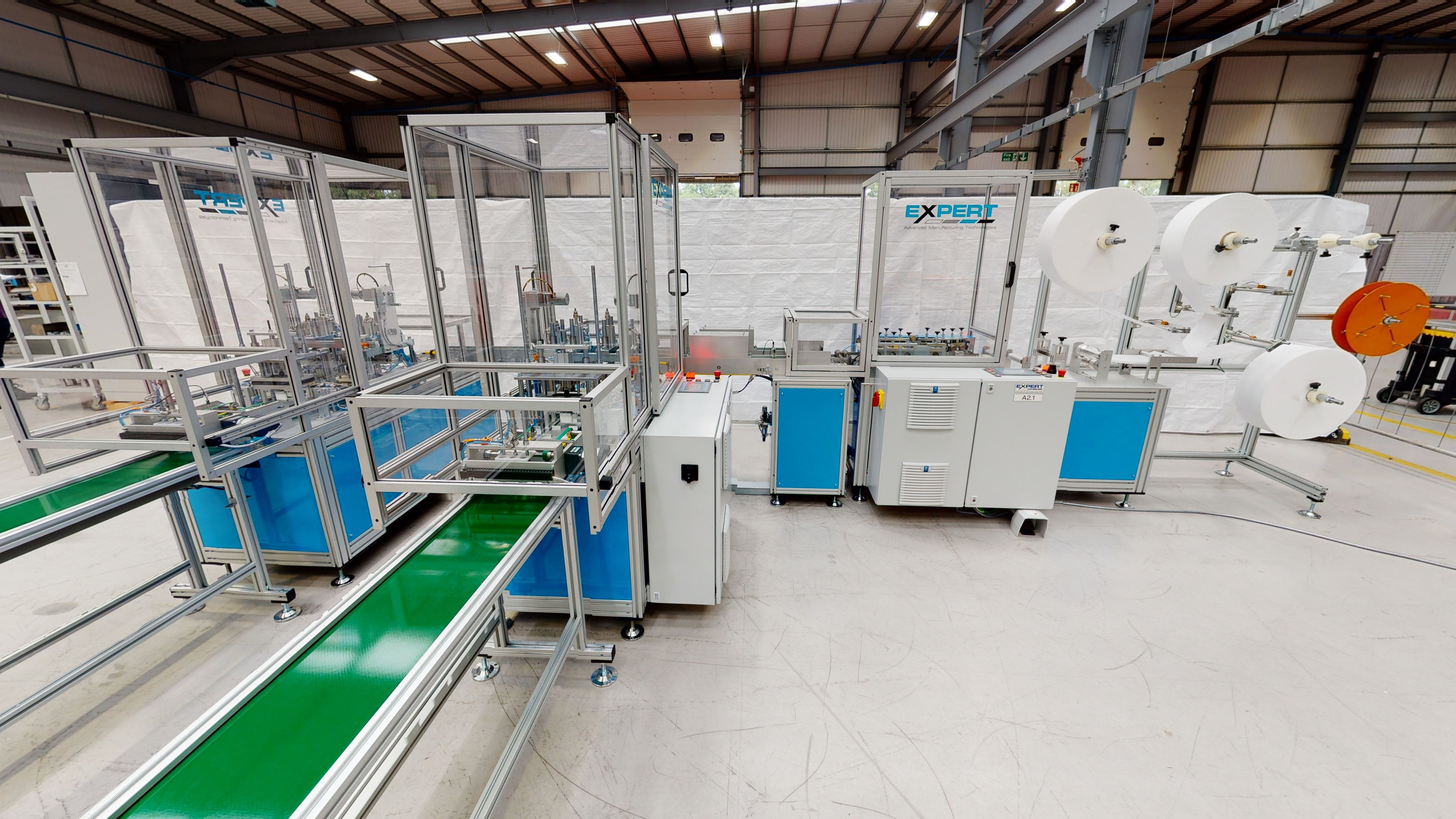 Expert Fully Automated Mask Making machine including Ilapak Smart flow wrapping packaging machine